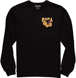 RVCA Mens Panther N Roses Crew Sweater/Black/M 海外卖家直邮