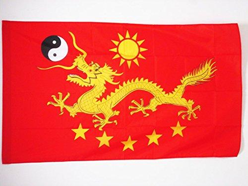 AZ FLAG Bandera de China Imperial Nuevo 150x90cm para Palo - Bandera del Imperio Chino 90 x 150 cm