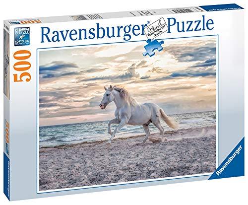 Ravensburger Puzzle 500 Piezas, Caballo en la Playa, Puzzle para Adultos, Animal Puzzle, Rompecabezas Ravensburger de Alta Calidad