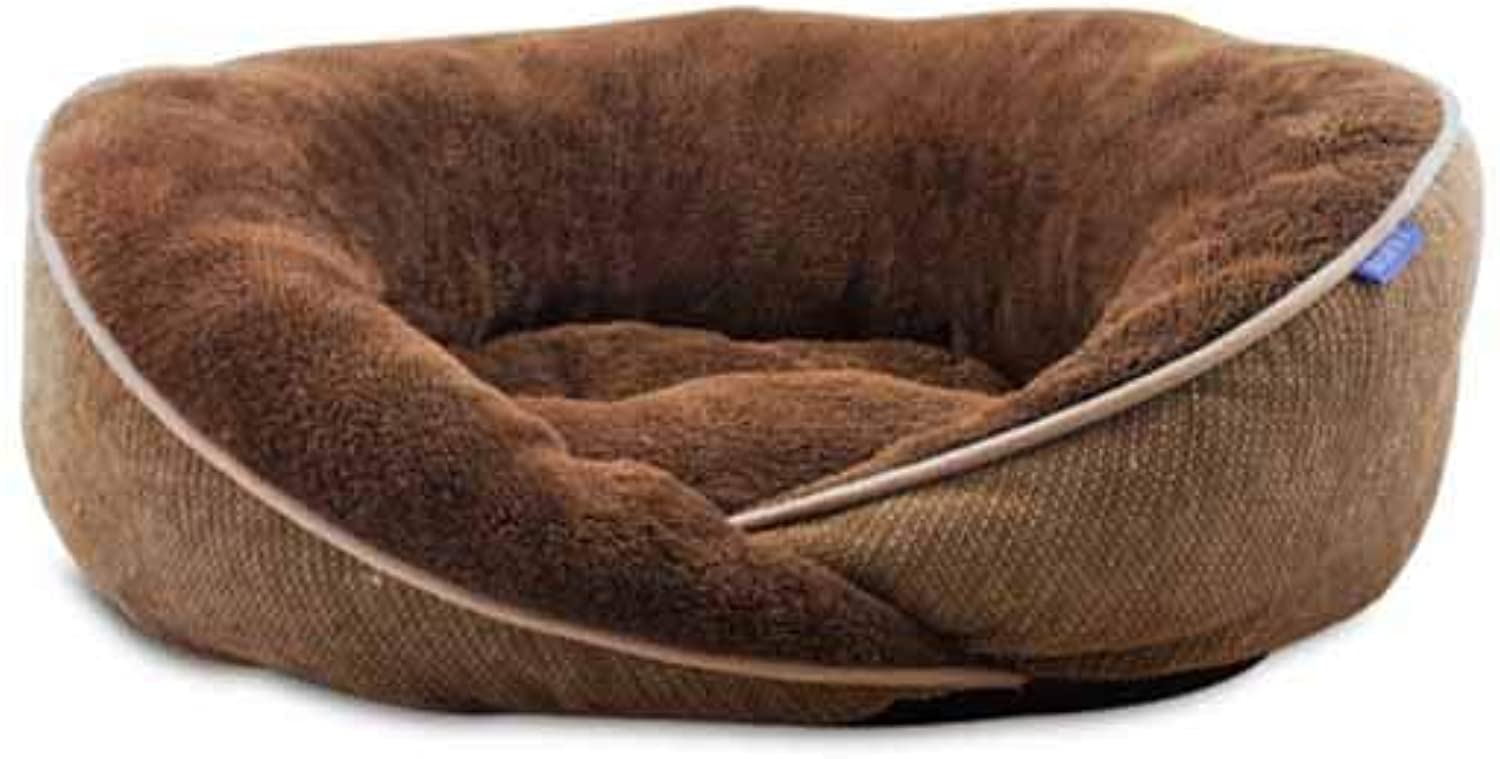 Muziwenju Kennel, mediumsized large kennel mat in winter, dog house, small mediumsized large dog of Teddy golden Retriever, warm and washable pet nest in winter, (Size   S)