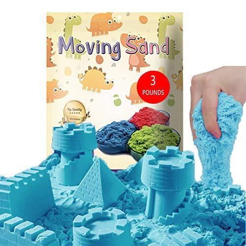 CROSOFMI Sabbia Cinetica per Bambini Magica Colorata Modellabile Sand Giochi per Ragazzi e Ragazze Oltre i 3 Anni(Naturale)