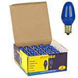 7 watt colored bulb - Sunlite 7C7/B Incandescent 7-Watt, Candelabra Based, C7 Night Light Colored Bulb, Blue, 25 Pack