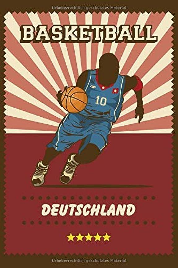 よろめくのためテラスBasketball Deutschland: Notizbuch im Sport Design mit 120 gepunkteten Seiten im A5 Format / Geschenk