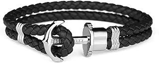PAUL HEWITT Anker Armband PHREP mit der Option Einer individuellen Wunschgravur - Lederarmband mit Anker Schmuck aus IP-Edelstahl Gold