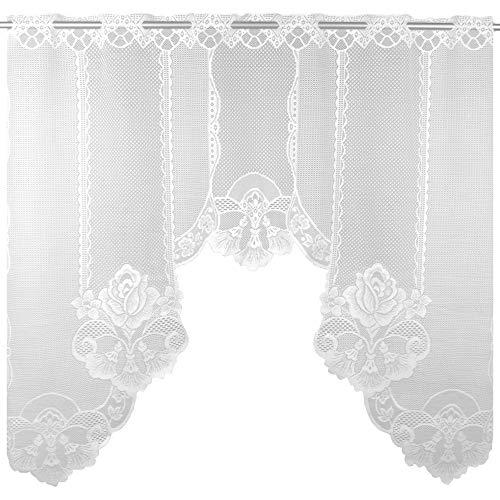 Arsvita Bogengardine 120x105 cm (BxL) in weiß - Design: Monika