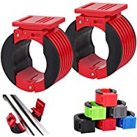 Zparik 2 Inch Olympic Barbell Clamps Collars Clips (1 Pair) (Red)