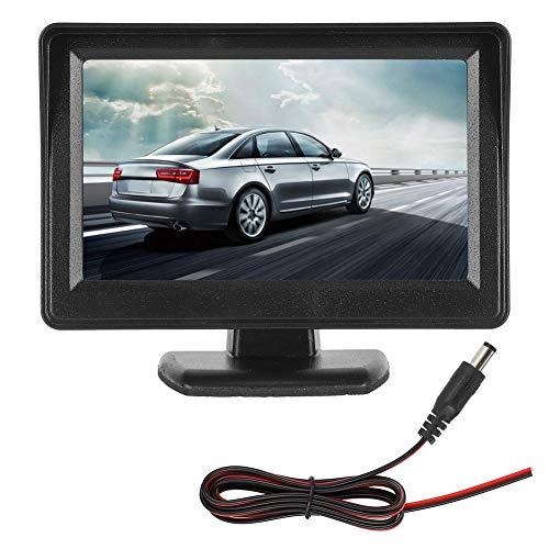 Auto achteruitkijk LCD-recorder, 4,3 inch HD digitale monitor met zonnescherm PAL/NTSC achteruitkijkspiegel Parking Display voertuigbeveiligingssysteem 12V-24V
