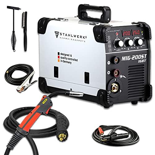 Stahlwerk MIG 200 ST IGBT - Equipo de soldadura de gas de protección Mig Mag con 200...
