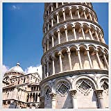 1art1 Pisa Poster Kunstdruck und Kunststoff-Rahmen - Der