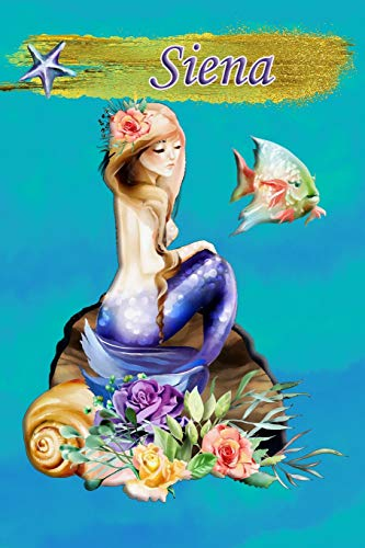 Heavenly Mermaid Siena: Wide Ruled | Composition Book | Diary | Lined Journal
