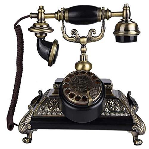 ZHTY Teléfono Antiguo inalámbrico Giratorio Europeo, teléfono Fijo para el hogar Teléfono Retro Dial Giratorio Suministros de decoración de Oficina Retro
