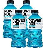 Powerade Zero Blue Mixed Berry, Zero Calorie Sports Drink, 32oz Bottle (Pack of 4, Total of 128 Oz)