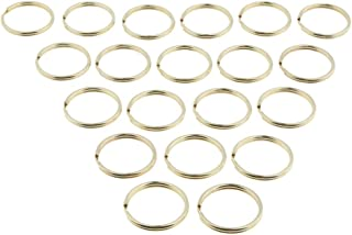 Baoblaze 20pcs Brass Keyrings Split Key Rings Keychain Craft Findings