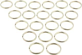 Baoblaze 20pcs Brass Keyrings Split Key Rings Keychain Craft Findings