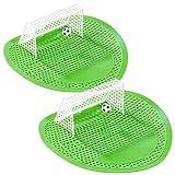 PEARL Pissoir-Spiele: 2er-Set Lustige Fußball-Urinal-Siebe, 18,5 x 19,5 cm, universell (Scherzartikel Pissoir Einlage)