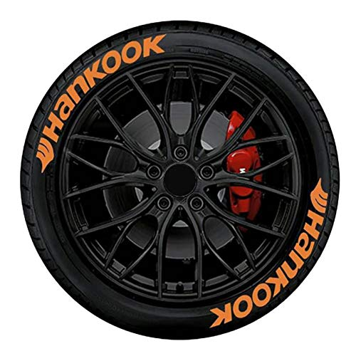 sprwater NZ Pegatinas para Neumáticos De Coche Hankook Automobile English 3D Stereo Alphabet Pegatinas para Neumáticos 8 Pegatinas Impermeables para Neumáticos Safety