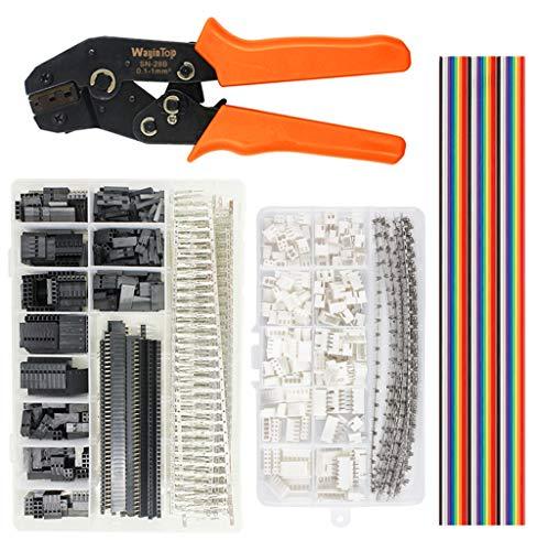 WayinTop JST Kit de herramientas de crimpado para conectores, alicates de crimpado...