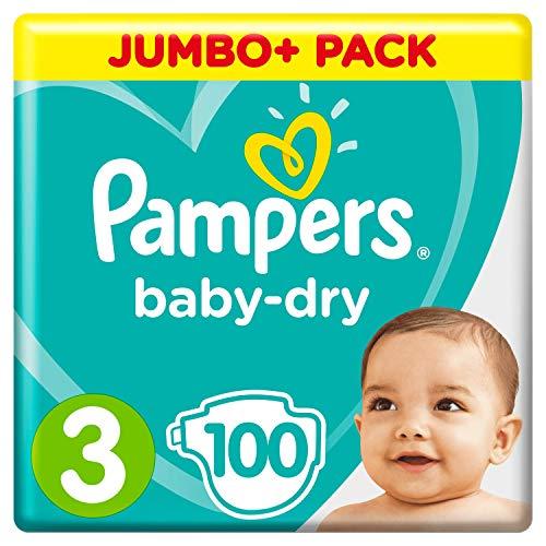 Pampers Baby-Dry Luftkanäle Größe 3, 100 Windeln, 6-10 kg