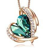 CDE Love Heart Pendant Mothers Day Necklaces for Mom Silver Tone Rose Gold Tone Crystals Birthstone Mothers Day Jewelry Gifts for Women mommy Party/Anniversary Day/Birthday