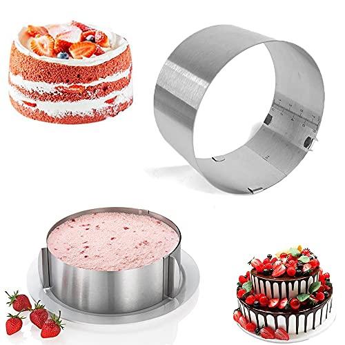 Dream HorseX Tortenring verstellbar, robuster Springform-Ersatz ideal für Tortenkreationen, Ersatz ideal für Tortenkreationen, 16 bis 30 cm