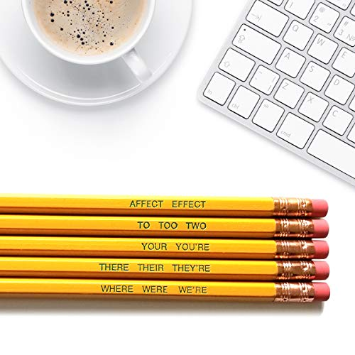 Word Nerd - Inspirational Pencils Engraved With Funny And Motivational Sayings For School And The Office