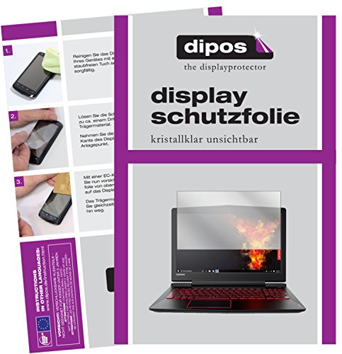 dipos I 2x Screen Protector compatible with Lenovo Legion Y520 Protection Films clear