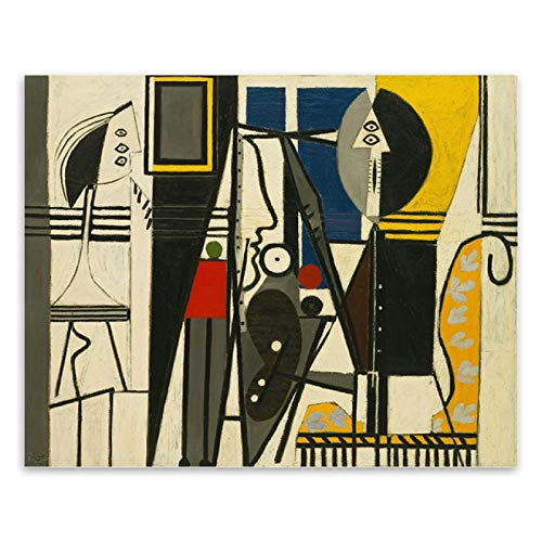 Print on canvas Picasso's Painter Paintings Print Canvas Pictures Abstract Wall Art Posters Prints Replica Classic Artwork Home decor-60x80cm No Frame