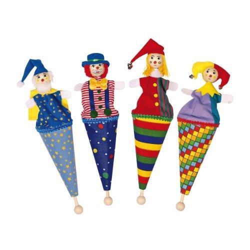Goki Tütenpuppen - Set 1 mit 4 verschiedenen Puppen
