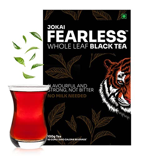 Fearless Tea - 100g | 50 Cups | Assam Orthodox Black Tea Second Flush | Loose Leaf Tea | Golden Tips | Whole Leaf Tea To Reduce...