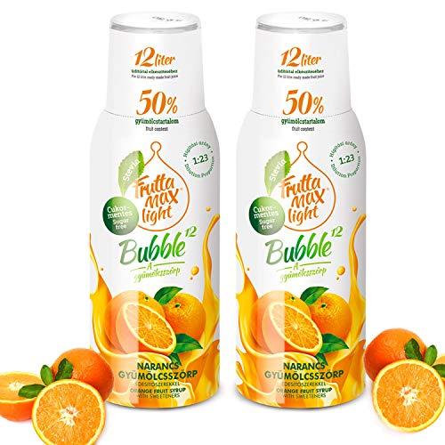 Light Low-Carb Fitness-Sirup Orange Geschmack von Frutta Max light | Ohne-Zucker | mit Stevia | mit 50% Fruchtanteil 2erPack(2x500ml)