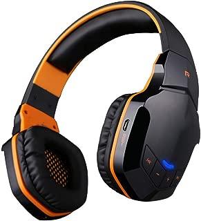 Bluetooth Headphones Over Ear,8H Playtime Hi-Fi Stereo Wireless Headphones Deep Bass Foldable Wired Wireless TF Bluetooth 4.1 Wireless Earphones with Mic,Orange