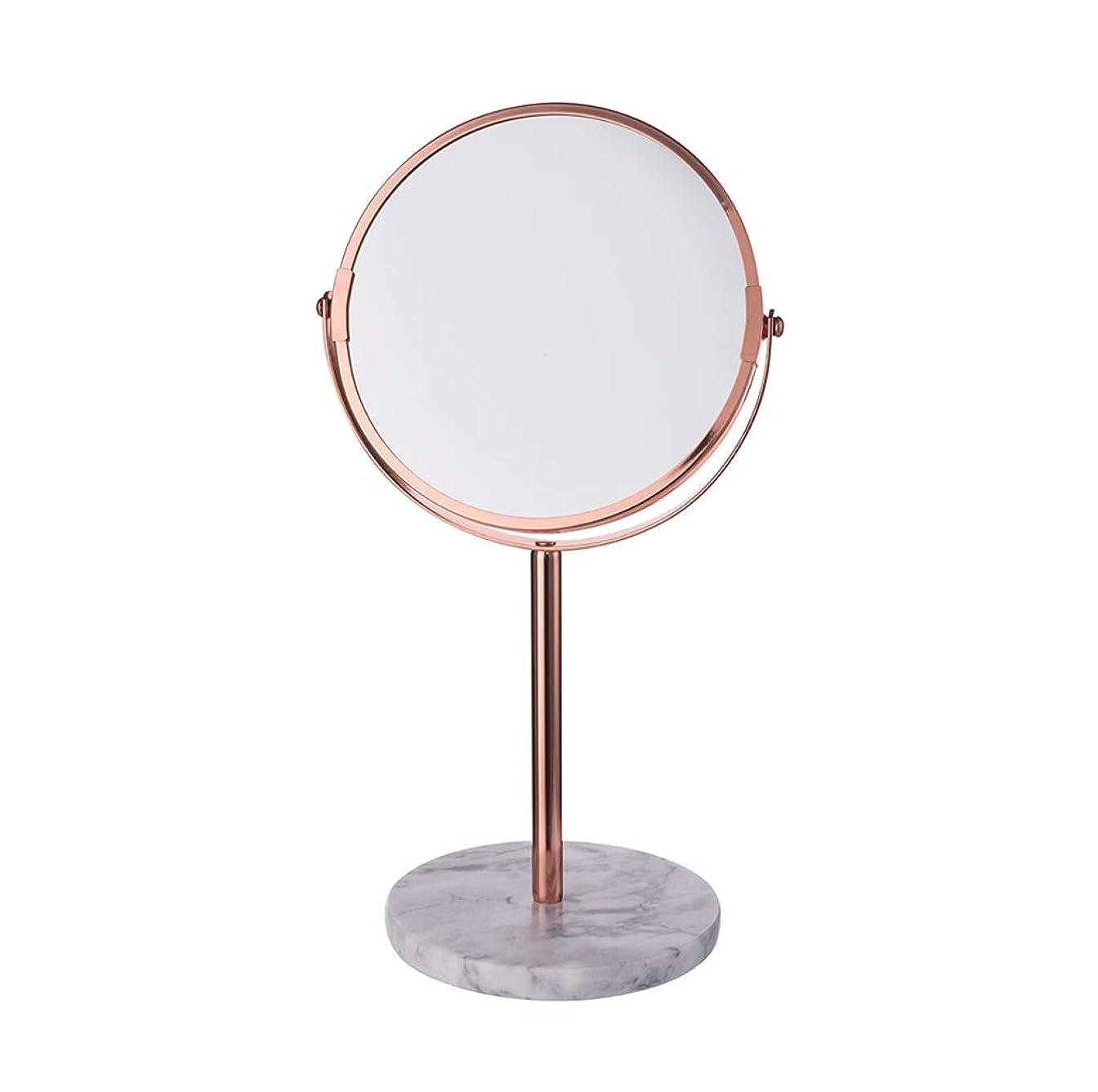 ベアリングサークル和解するあらゆる種類の明るい鏡 化粧台化粧鏡、ラウンド大理石ベース両面ミラー多機能寝室の装飾プリンセスクリエイティブミラー メイクアップとミラー (Color : A)