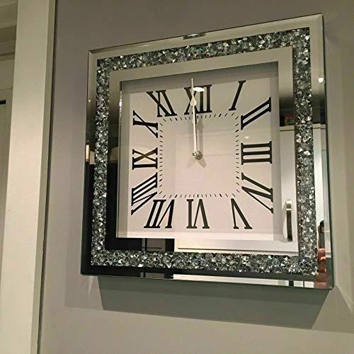ShopScotch Wanduhr mit römischen Zahlen, Spiegelglas, 35 cm