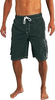 Mens Big Extended Size Swim Trunks - Mens Plus King Size Swimsuit Thru 5X