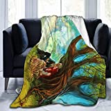 DSZQTT Arti-Stic Lo-Ve - Manta de forro polar cálida para sofá cama de 127 x 101 cm