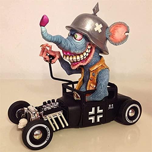 BKEARE Estatua de Monstruo de Boca Grande Enojada, Monstruo Aterrador, Figuras de decoración de Halloween, Escultura Artesanal de Resina, Adorno de decoración del hogar (B)