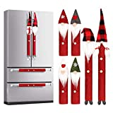 INNOVAZE Christmas Decoration Gnomes Refrigerator Handle Cover Set of 8, Christmas Kitchen Appliance Supplies...