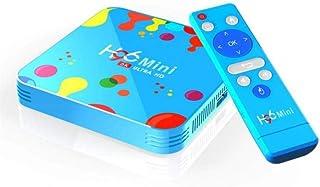 صندوق تليفزيون اتش 6 يعمل بنظام اندرويد 9.0 من اتش 96 ميني، ذاكرة رام 4 جيجا، روم 128 جيجا، ثنائي التردد، الجيل الخامس، وا...