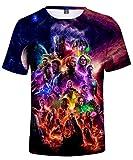 HUASON Unisex Camiseta Avengers Super Hero Quantum Realm 3D Vistoso Impresión T-Shirt(M)