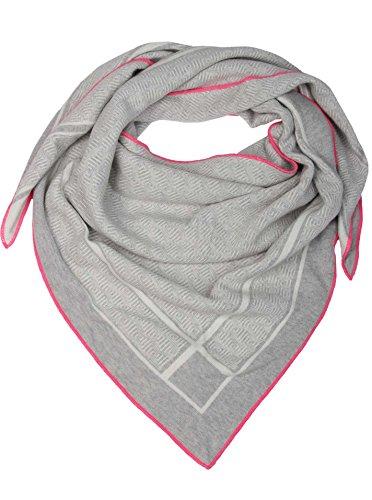 Cashmere Dreams Dreieckstuch mit Kaschmir - Hochwertiger Schal mit Labyrinth für Damen Jungen und Mädchen - XXL Hals-Tuch und Damenschal - Strick-Waren für Sommer und Winter (hgr/pink)