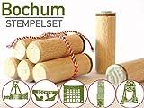 13gramm Bochum Stempelset Souvenir Geschenk, 5-teilig aus Buchen-Holz