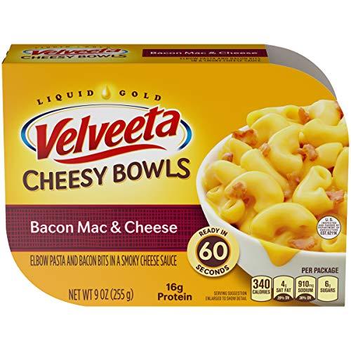 Velveeta Cheesy Bowls Bacon Mac and Cheese (9 oz Boxes, Pack of 6)