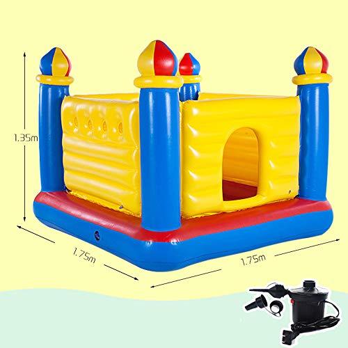 DEAR-JY Castillo Hinchable,175×175×135CM,Centro de Actividades del Parque de Atracciones Small Trampoline Toys para niños,Parque Inflable del Castillo para niños de Interior y Exterior