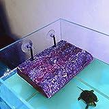 Adorno de acuario Decoración del tanque de pescado Suministros de acuario Sol artificial, Tanque de peces, Tortuga de mascotas, Escalada de aguas profundas,Artificial Tree Bark Brown 19 * 13cm