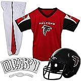 Franklin Sports Atlanta Falcons Kids Football Uniform Set - NFL Youth Football Costume for Boys & Girls - Set Includes Helmet, Jersey & Pants - Small