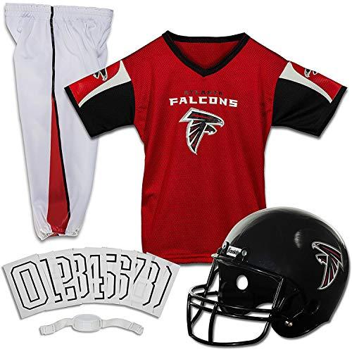 Franklin Sports Atlanta Falcons Kids Football Uniform Set - NFL Youth Football Costume for Boys & Girls - Set Includes Helmet, Jersey & Pants - Medium