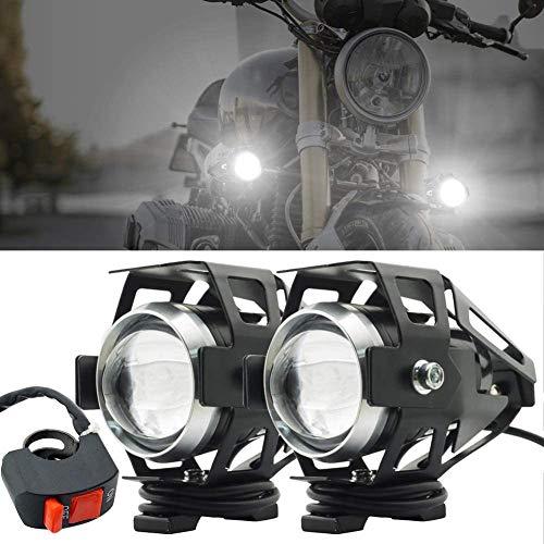 JYMDH Drl Spotlighs wasserdichte Zusatzlampe,2pcs Motorrad Scheinwerfer Zusätzliche Lichter Led Nebellicht,Mit EIN-aus-Schalter,Hoch Niedrig Strobe 3 Modi Enthalten-A