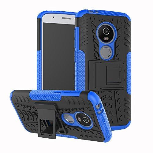FoneExpert® Moto E5 Play Coque, Etui Housse Coque Shockproof Robuste Impact Armure Hybride Béquille Cover pour Motorola Moto E5 Play