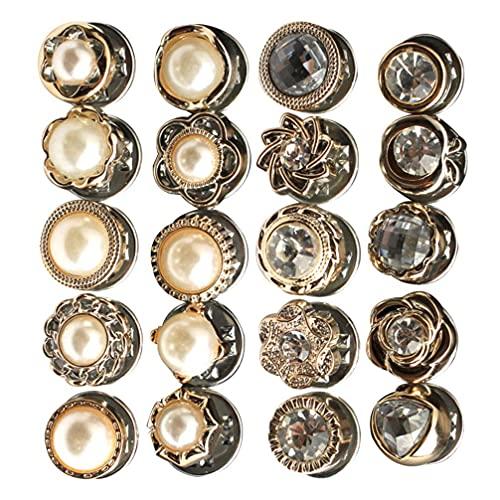 LIXBD Lot de 60 broches de sécurité pour femme avec perles et strass (couleur : comme sur la photo)