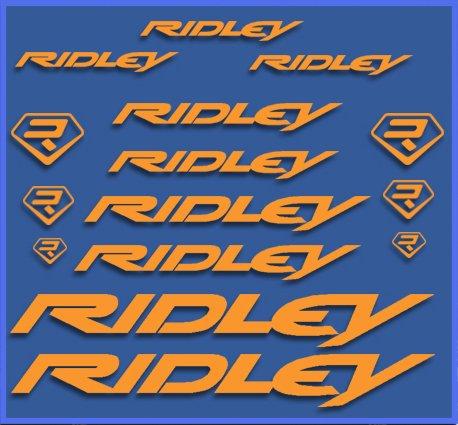 Ecoshirt S2-9N42-R40P Aufkleber, Ridley Dr1090 Vinyl Adesivi Decal Aufkleber públicŸŸŸ MTB Stickers Bike, orange